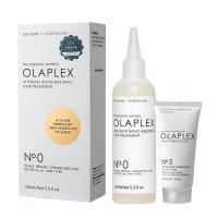 Olaplex, zestaw odbudowujący włosy, kuracja No.0 155ml + kuracja No.3 30ml
