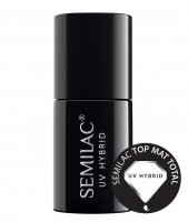 Semilac, Top Mat Total, matowy top coat hybrydowy, 7ml