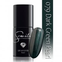 Lakier hybrydowy Semilac 079 Dark Green Pearl, 7ml - krótka data ważności (10.2019)