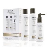 Nioxin System 3, zestaw przeciw wypadaniu, włosy lekko przerzedzone, po zabiegach, cienkie