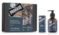 Proraso, zestaw: olejek + szampon do brody, Azur Lime, 200ml + 30ml