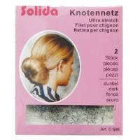 Solida, siatka na włosy do koków, Chignon, Ultra Stretch, 2 szt