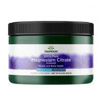 Swanson, cytrynian magnezu w proszku - 100% czystości, 244g