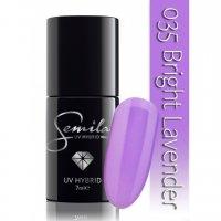 Lakier hybrydowy Semilac 035 Bright Lavender, 7ml - krótka data ważności (08.2019)