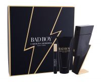 Carolina Herrera Bad Boy, zestaw: EDT 100 ml + Żel pod prysznic 100 ml + EDT 10 ml (M)