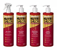 NutriSalon Brazilian Keratin, zestaw do keratynowego prostowania włosów, 4x500ml
