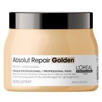Loreal Absolut Repair, złota maska regenerująca włosy uwrażliwione, 500ml