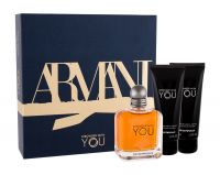 Giorgio Armani Emporio Armani Stronger With You, zestaw: Edt 100 ml + Żel pod prysznic 2 x 75 ml (M)