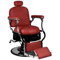 Fotel barberski Gabbiano Vito, bordowy