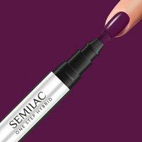 Semilac One Step Hybrid, lakier hybrydowy w markerze, 3ml, S780 Plum Wine