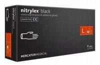 Mercator Nitrylex Black, rękawiczki nitrylowe, czarne, rozmiar L, 100szt