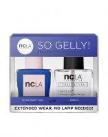 NCLA So Gelly!, zestaw lakier+top do paznokci, Venice Beach Vixen, 2x15ml