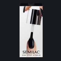 Semilac One Step Hybrid, lakier hybrydowy, 5ml, S190 The Black