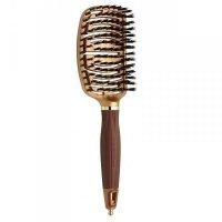 Olivia Garden Nano Thermic Flex Boar, szczotka z włosiem z dzika