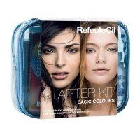 RefectoCil Starter Kit, zestaw startowy do koloryzacji brwi i rzęs, kolory podstawowe