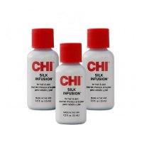 CHI Silk Infusion, odżywczy jedwab do włosów, wielopak, 3x15ml