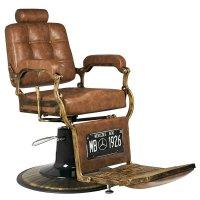 Fotel barberski Gabbiano Boss, old leather jasny brąz