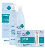CeCe Med, zestaw przeciw wypadaniu włosów, 300ml + 300ml + 30x7ml