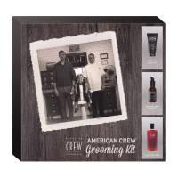 American Crew Grooming Kit, zestaw: żel do golenia 150ml + olejek przed goleniem 50ml + szampon 3w1 Tea Tree 100ml