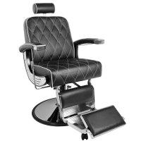 Fotel barberski Gabbiano Imperial, czarny