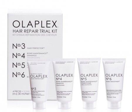 Mini zestaw odbudowujący Olaplex Hair Repair Trial Kit No. 3-6, 4 x 30ml - pognieciony kartonik