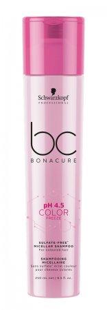 Schwarzkopf BC Color Freeze pH 4.5, bezsiarczanowy micelarny szampon do włosów farbowanych, 250ml
