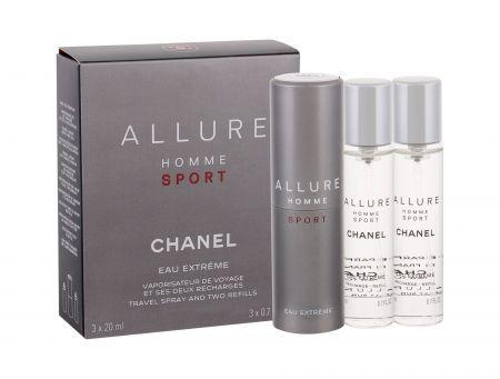Chanel Allure Homme Sport Eau Extreme, woda toaletowa, 3x20ml (M)