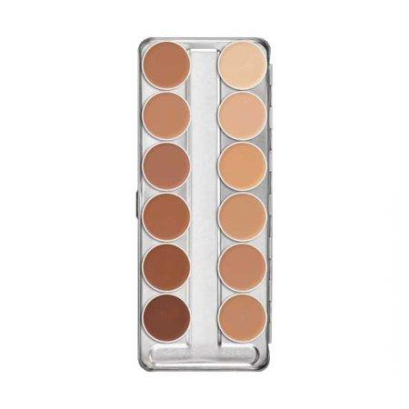 Kryolan Dermacolor, Camouflage Creme Palette, paleta 12 kamuflaży, 40g