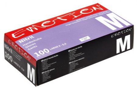 Efalock Emotion, nitrylowe rękawiczki bez pudru, rozmiar M, fioletowe, 100 szt.