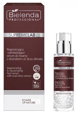 Bielenda Professional Supremelab, Power of Nature, regenerująco-odmładzające serum do twarzy z ekstraktem ze śluzu ślimaka, 30g
