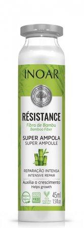 Inoar Resistance Bambu, ampułka do włosów osłabionych z ekstraktem z bambusa, 45ml