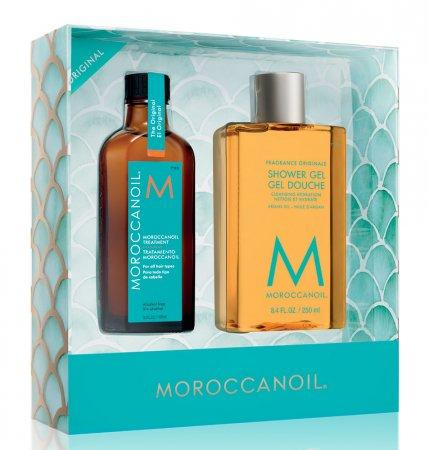 Moroccanoil, zestaw ucieczka od codzienności: kuracja + żel pod prysznic