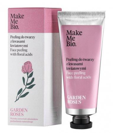 Make Me Bio Garden Roses, peeling do twarzy z kwasami kwiatowymi, 40ml