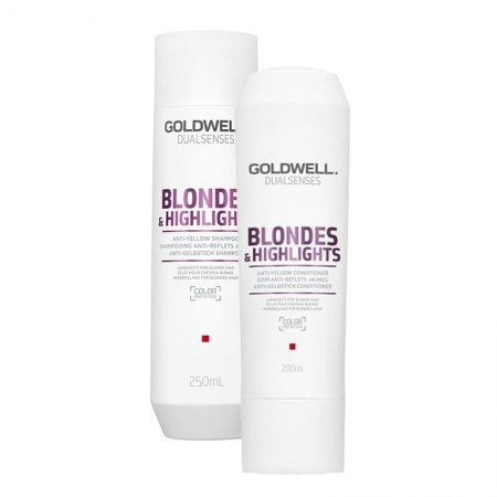 Goldwell Dualsenses Blondes & Highlights, zestaw do włosów blond, 250ml + 200ml