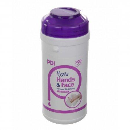 PDI Hygea Hands & Face, chusteczki do mycia i pielęgnacji twarzy i rąk, 185x130mm, 125szt.