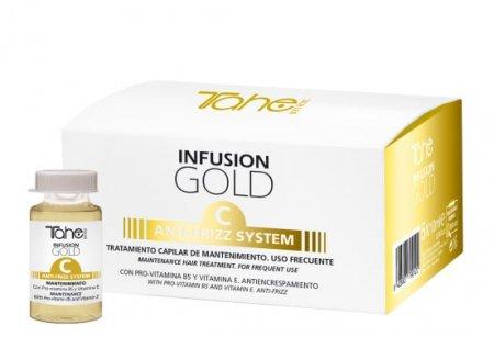 Tahe Botanic Gold Finishing, ampułki przeciw puszeniu się włosów system C, 5 x 10ml