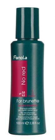 Fanola No Red, szampon do brązowych włosów redukujący czerwone odcienie, 100ml