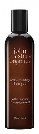 John Masters Organics, szampon do włosów wypadających i osłabionych, Mięta i Wiązówka Błotna, 236ml
