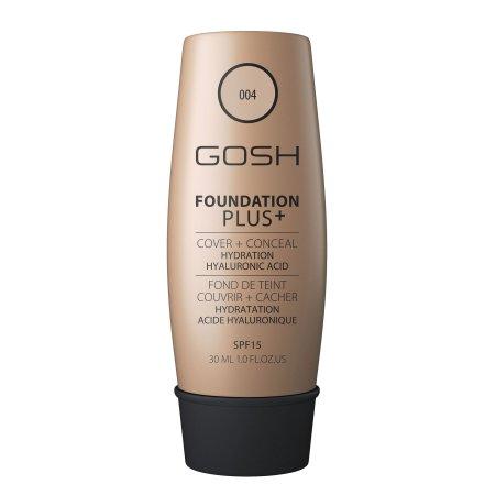Gosh Foundation Plus, podkład kryjąco-korygujący 2w1, 30ml