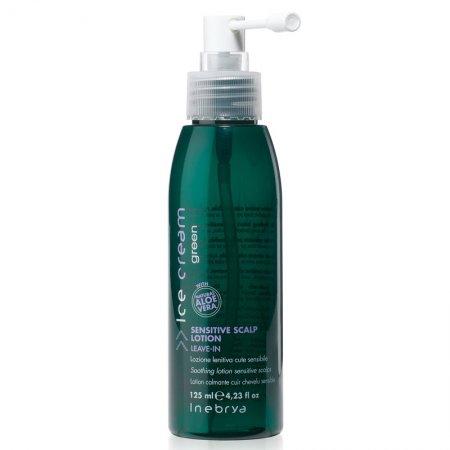 Inebrya Green Sensitive Scalp Lotion, łagodny lotion do wrażliwej skóry głowy, 125ml
