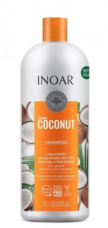 INOAR Bombar Coconut, szampon z olejkiem kokosowym, 1000ml