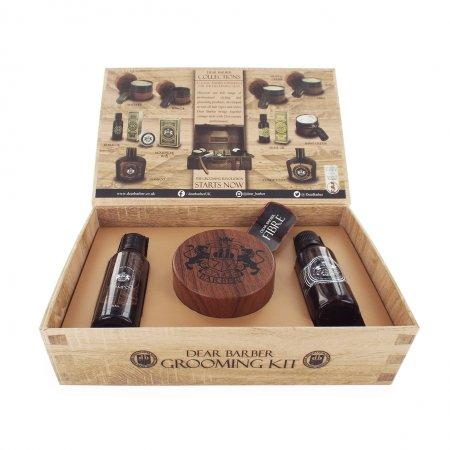 Dear Barber zestaw: szampon 50ml, tonik 30ml, pasta włóknista 100ml