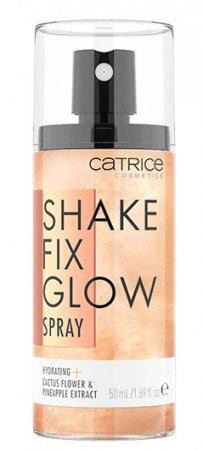 Catrice Shake Fix Glow, spray rozświetlający i utrwalający makijaż, 50ml