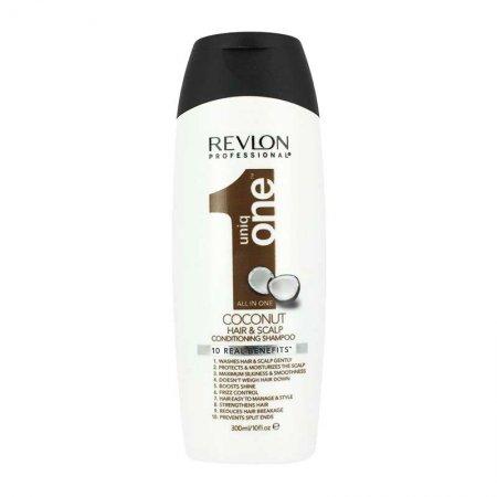 Revlon Uniq One, szampon z balsamem, kokosowy, 10 korzyści, 300ml
