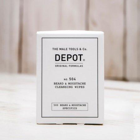 Depot No. 504, chusteczki do wąsów i brody, 12szt.