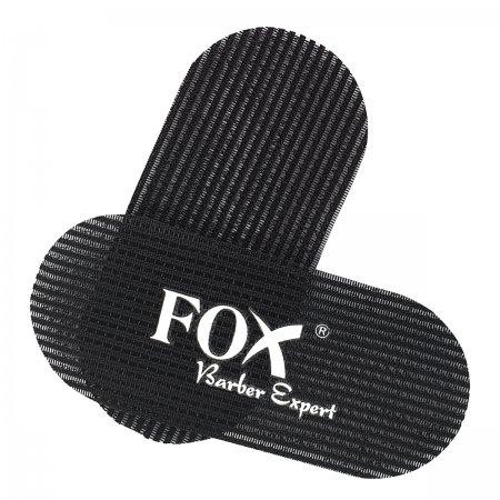 Fox, rzepy do włosów barberskie, czarne, 2 szt