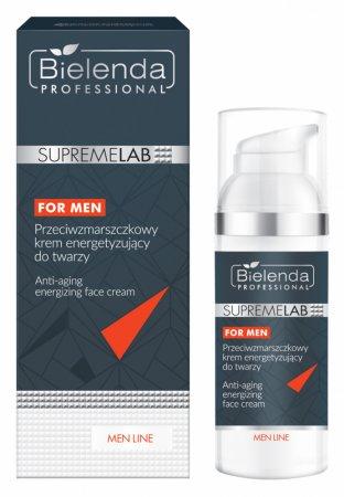 Bielenda Professional Supremelab, Men Line, przeciwzmarszczkowy krem energetyzujący do twarzy, 50ml