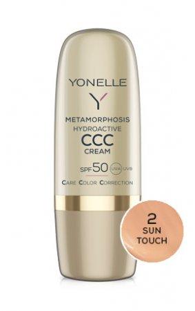 Yonelle Metamorphosis, hydroaktywny krem koloryzujący CCC, SPF 50, 2 Sun Touch, 30ml