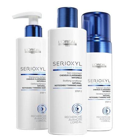 3 - stopniowy zestaw wzmacniający do włosów naturalnych Loreal Serioxyl - uszkodzone opakowanie