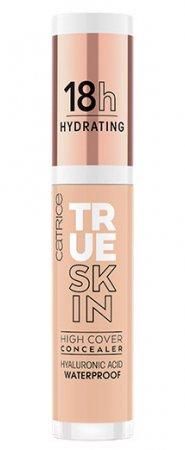 Catrice True Skin High Cover, nawilżający korektor mocno kryjący, Cool Rose 018, 4,5ml